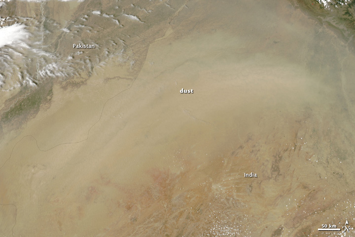 Dust Storm Over India and Pakistan in 2010